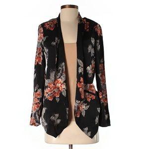 Astr black floral blazer